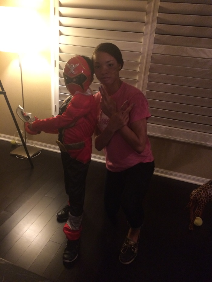 Red and Pink Power Rangers
